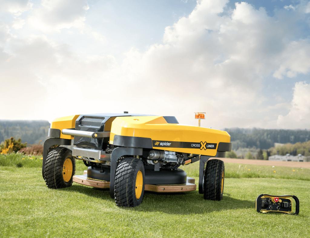 Spider Mower Crossliner Model on Mowed Lawn